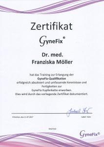 Zertifikat Gynefix München